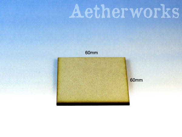 60mm x 60mm MDF Bases
