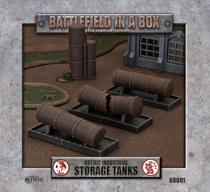 Gothic Industrial - Tanks (x3) - 30mm