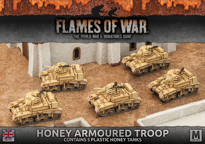 Desert Rats Honey Armoured Troop (Plastic, x5)