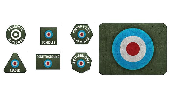British LW Tokens (x20) & Objectives (x2)
