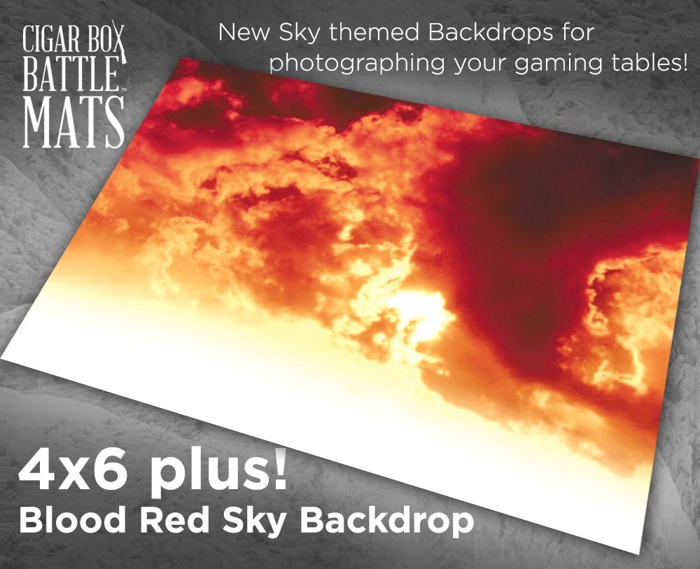 Blood Red Sky 4x6 Battle Mat