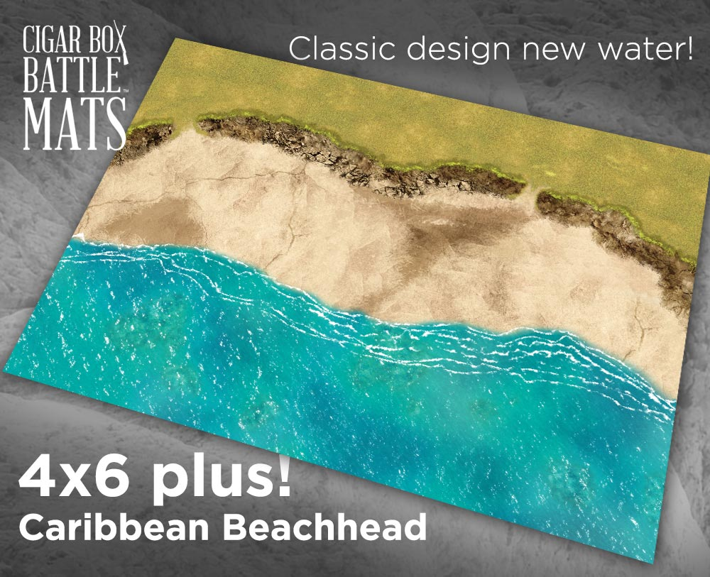 Carribbean Beachhead 4x6 Battle Mat