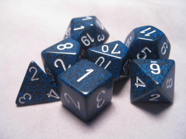 Chessex Dice Sets: Stealth Speckled Polyhedral 7-Die Set