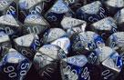 Chessex Dice Sets: Blue-Steel/White Gemini Polyhedral 7-Die Set