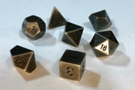 Chessex Dice Sets: Dark-Metal Metal Polyhedral 7-Die Set