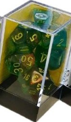 Borealis 12mm d6 Maple Green/yellow Dice Block (36)