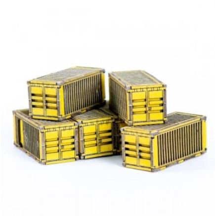 Microscale Terrain: Micro Scale Containers (x6) (Yellow)