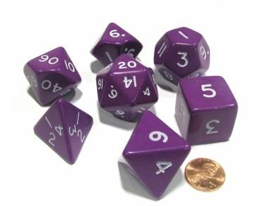 Jumbo, opaque, 7 set polyhedral, purple