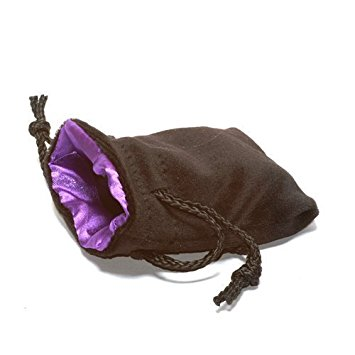 Black Velvet Bag: Purple Satin Lining (3 3/4