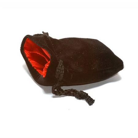 Black Velvet Bag: Red Satin Lining (3 3/4