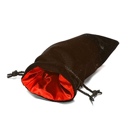 "Black Velvet Bag: Red Satin Lining (5"" x 8"")"