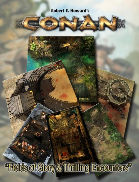 Conan RPG: Fields of Glory & Thrilling Encounters Geo. Tile Set
