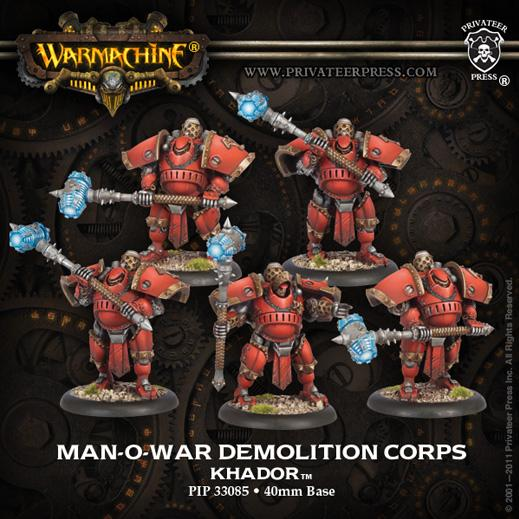 Man-O-War Demoltion Corps - Khador Unit (Plastic)