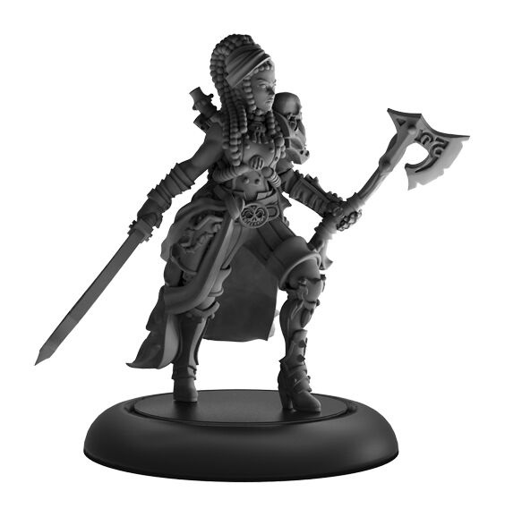 Captain Rahera, Terror of the Wailing Sea – Mercenary Warcaster (metal)