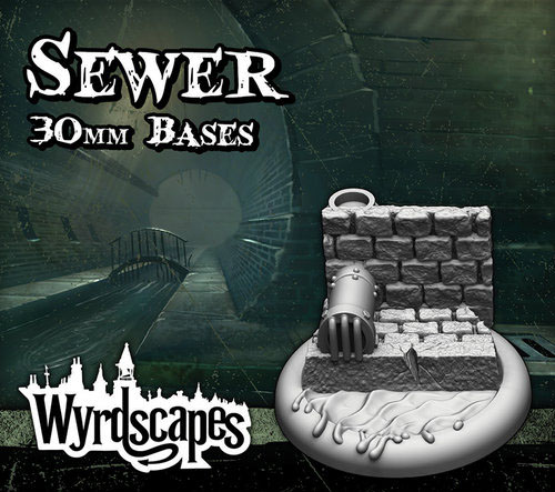 Sewer 30mm bases (5)